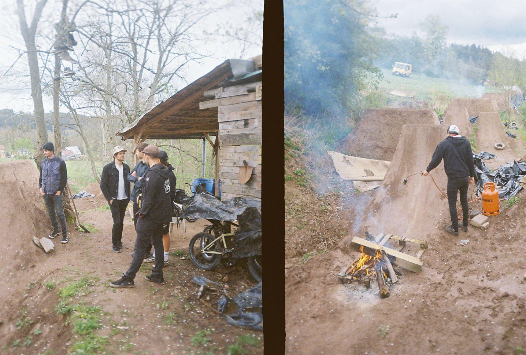 053_hořák a ohně jedou asi 20minut po ukončení akce vyvoz bazén vody na kopec na spot