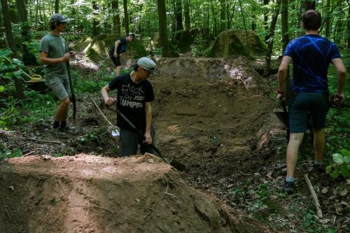 Digging.